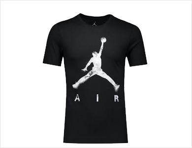 跑步透气篮球半袖上衣运动AJ短袖