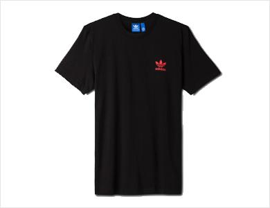 阿迪达斯-三叶草-男子-短袖T恤-黑